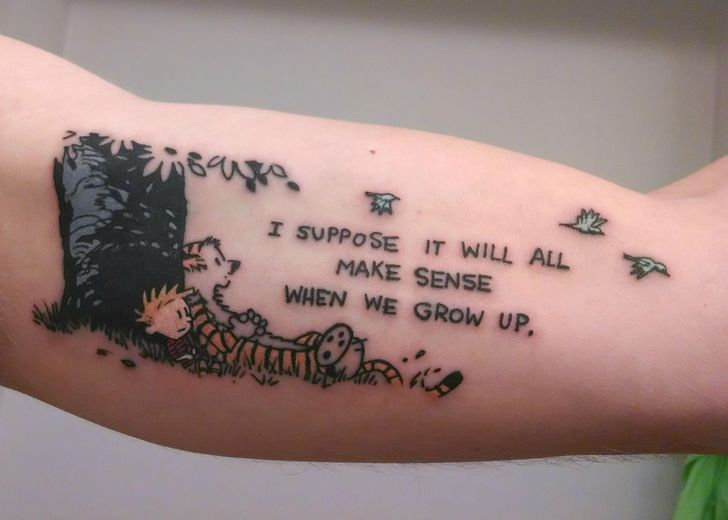 21 Moving Tattoos That Make Our Childhood Memories Come Alive