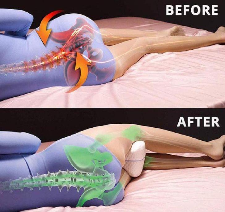 4 أسباب لماذا من الجيد النوم مع وسادة بين ساقيك