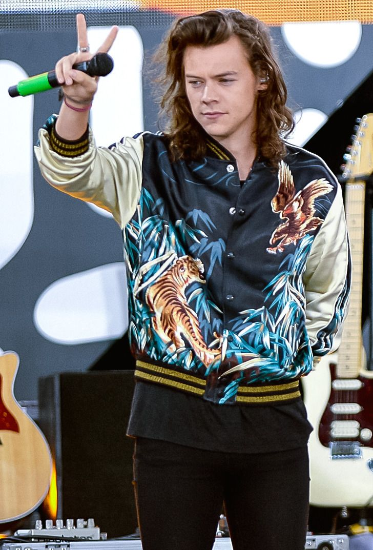 How the Wardrobe of Harry Styles Evolved From T-Shirts and Jeans to Ruffled Blouses and Lilac Boas