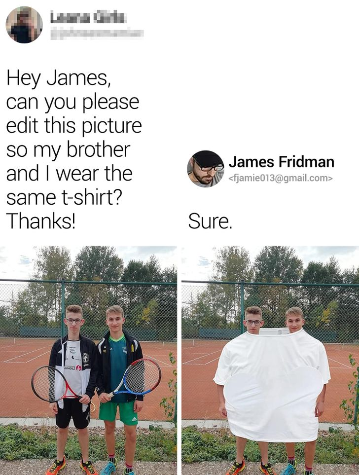 A Photoshop Master Screws Up Fans' Photos for a Good Laugh, and No One's Even Mad About It