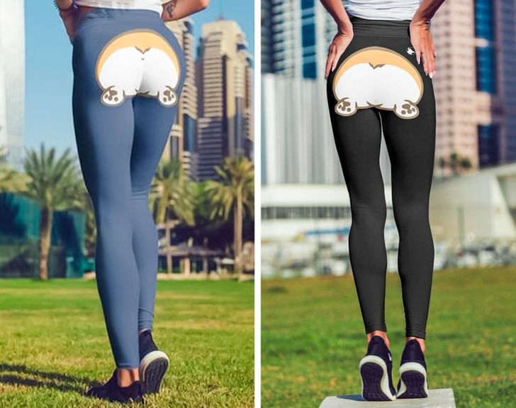 You Can Now Buy Leggings That Will Turn Your Booty Into a Corgi's, and It's a Thing