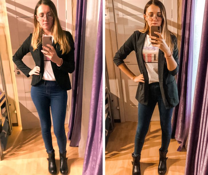 Women Tried on 14 Pieces of Clothing That Help Them Look 2 Sizes Thinner, and They Shared Their Photos With Us