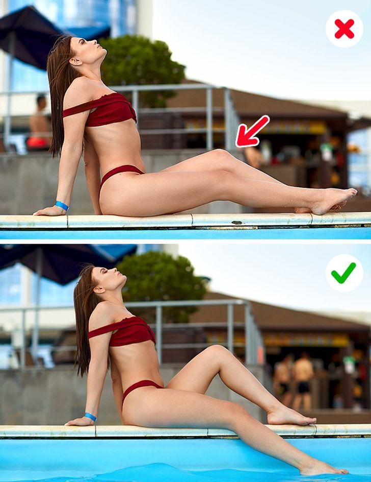 12 błędów, które sprawiają, że źle wyglądamy na zdjęciach na plaży
