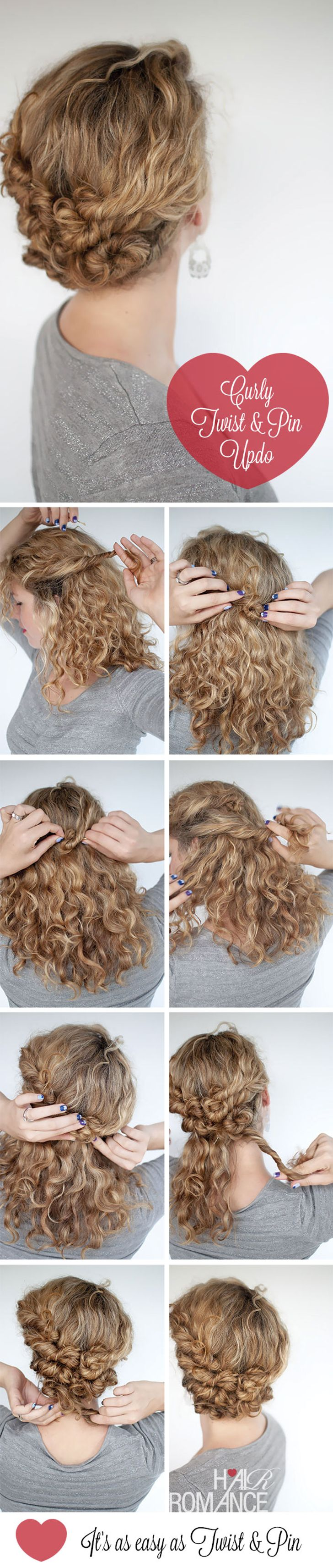 4 fantastic hairstyle tutorials for short and naturally curly hair