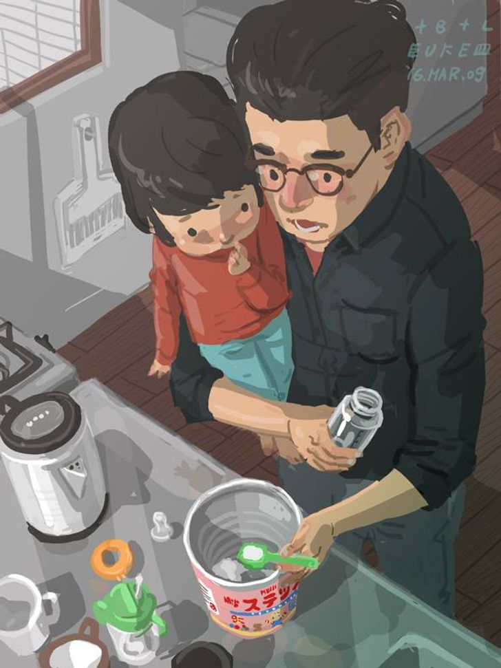ASingle Dad From Taiwan Illustrates His Daily Life, and It's Too Touching for Words