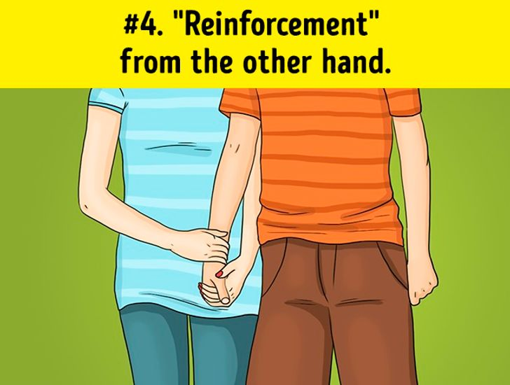 What does holding hands with interlocked fingers mean