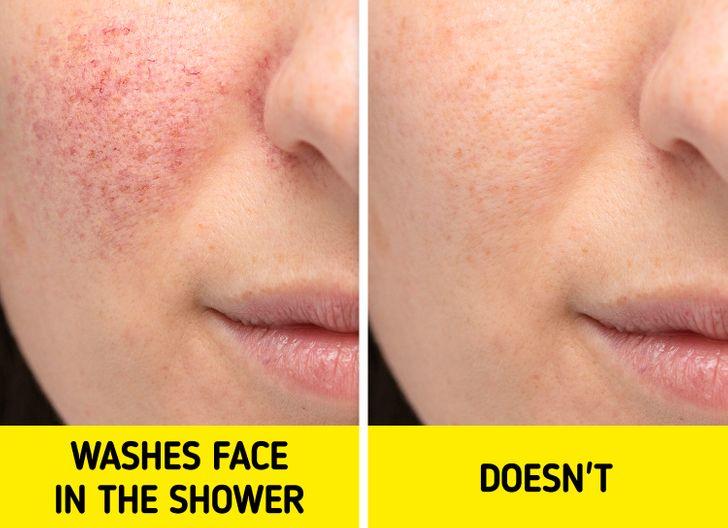 Prečo by ste si nemali umývať tvár v sprche