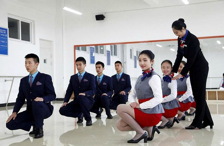 This Is What Flight Attendant Training in China Looks Like