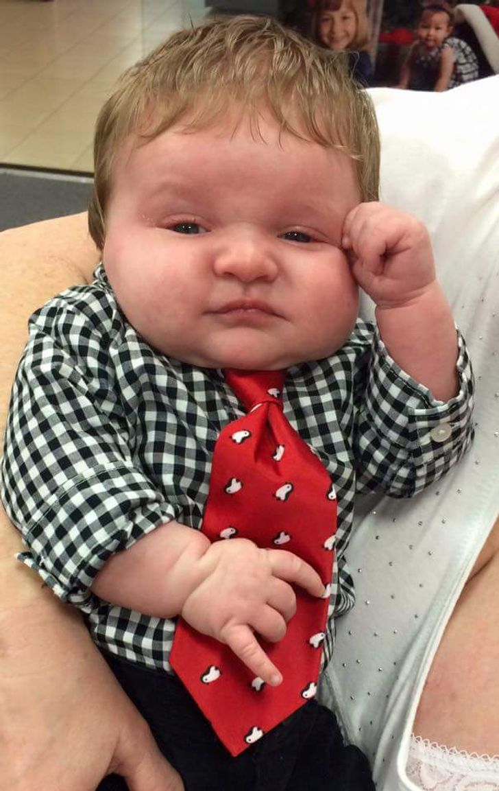 20 Babies Who Grew Up So Fast, They Look Like Tiny Adults