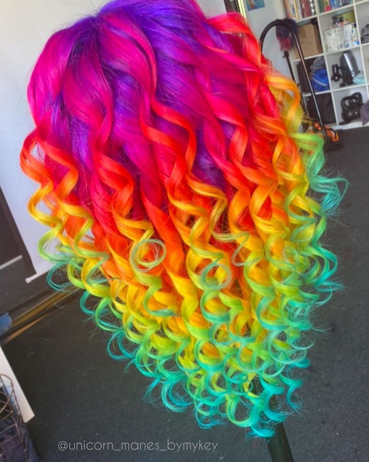 An Australian Hairstylist Turns Hair Into Unicorn Manes and Gives People a Dose of Rainbow
