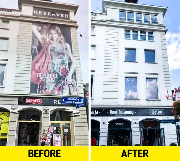 Poland Shows the New Face of Its Cities As It Removes Annoying Ads and Billboards