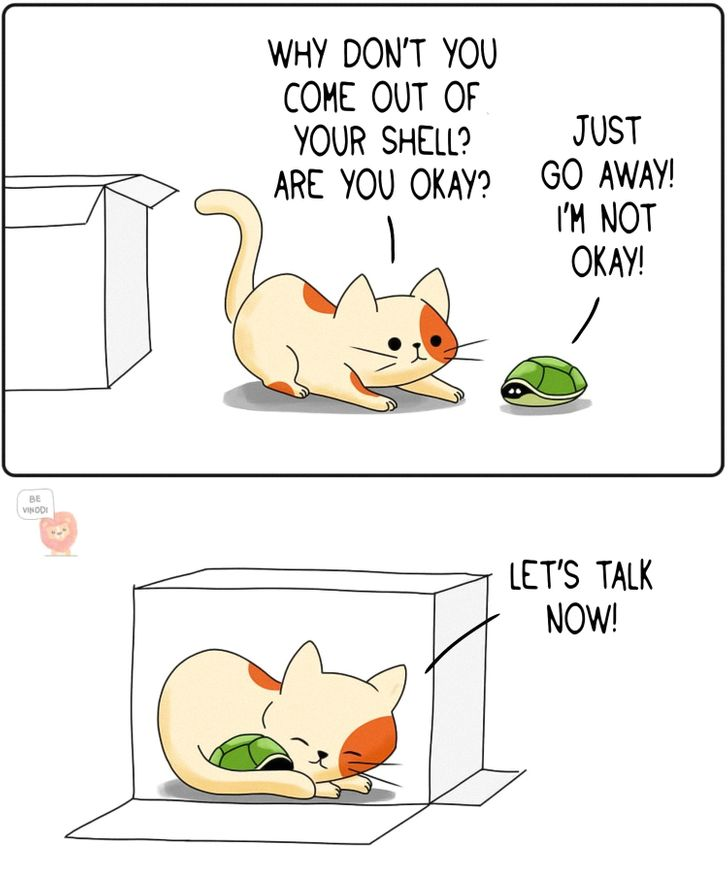 25 Tender Comics Showing What Could Happen if Animals Had Human Relationships