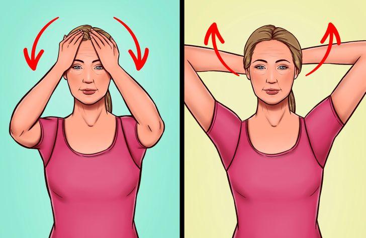 7 ejercicios para deshacerse naturalmente de un cuello de pavo