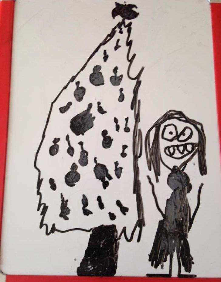 15 Bright Siders Show Kids' Drawings That Deserve a Place in the Gallery of Funny Arts