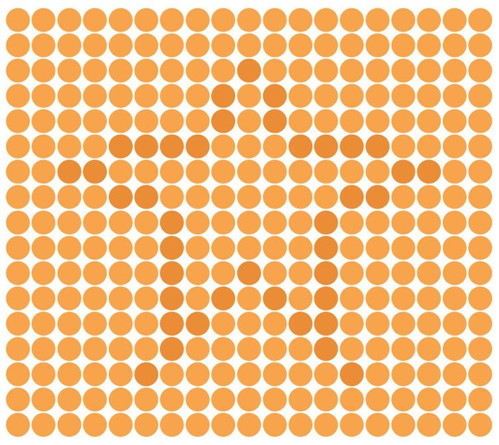 Find the irregular star in this image. Puzzle 9 of 15.