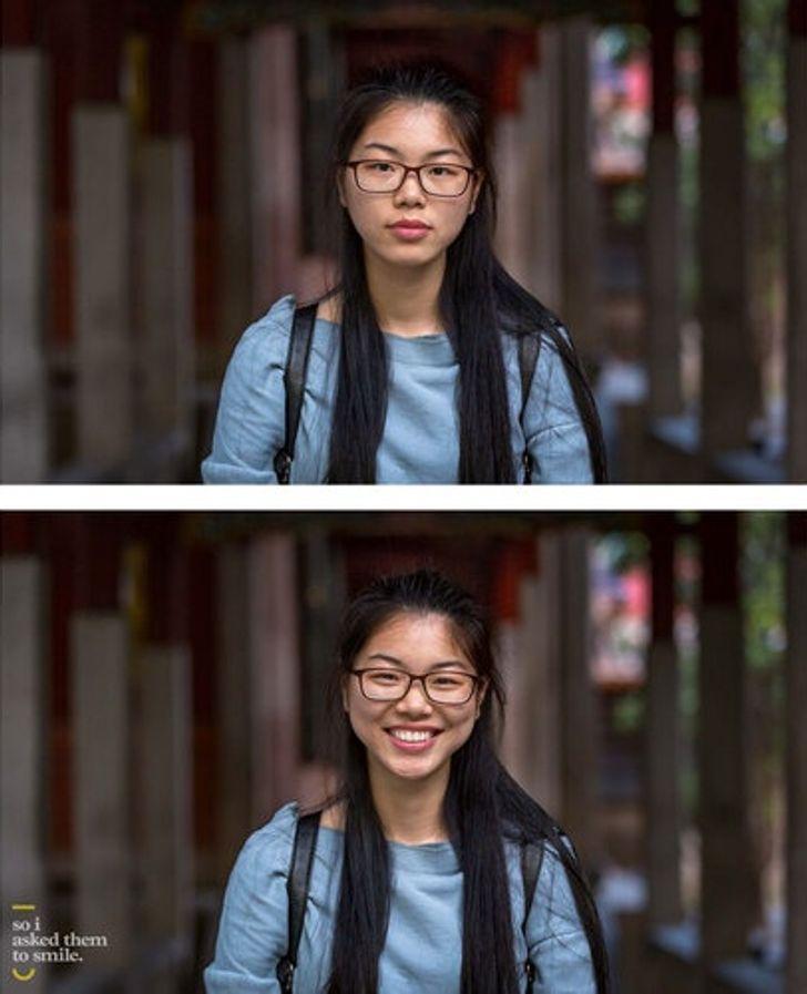 Fotograf ukazuje, že úsmev môže zmeniť našu tvár ako dúha po daždi