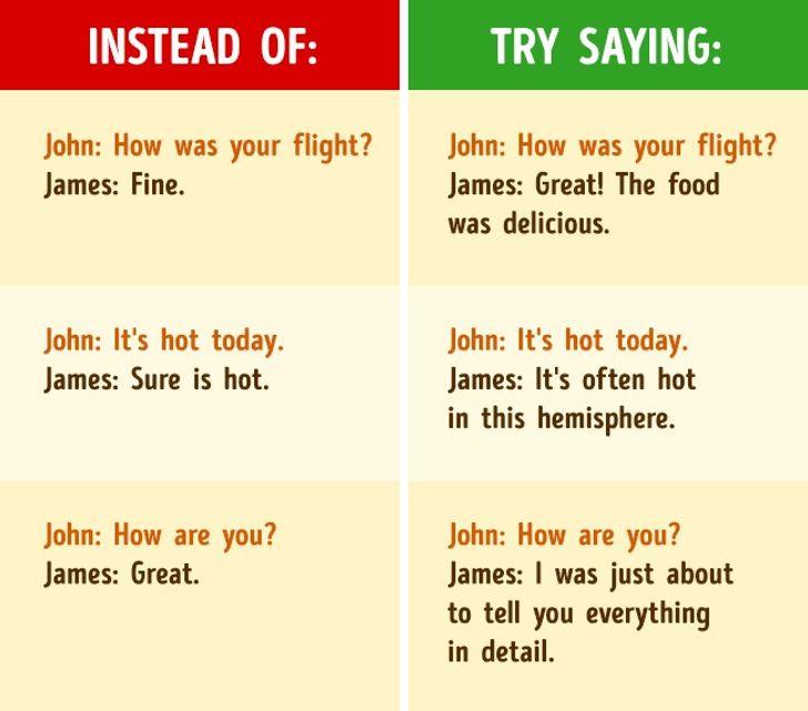 How tomake alasting impression injust five minutes ofconversation