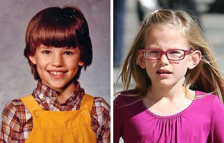 12 Eye-Opening Photos of Celebrities and Their Children Taken at the Same Age