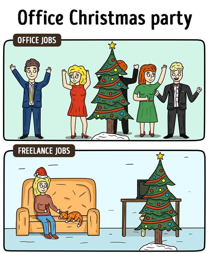 15brilliant comic strips showing how freelance life isdifferent toanoffice job