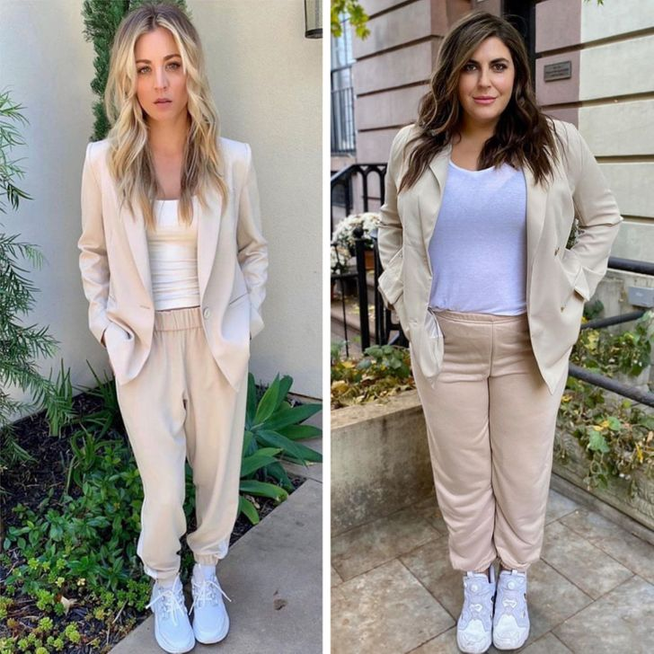 A Woman Copies Celebrity Outfits to Prove That Size Doesn't Matter