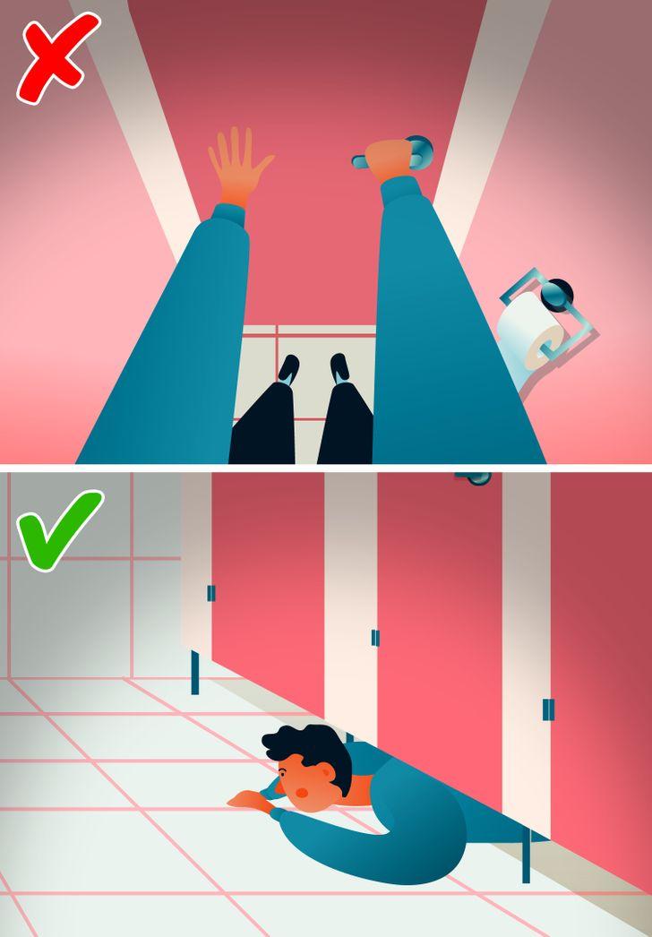 Why Doors in Public Bathrooms Don't Reach the Floor