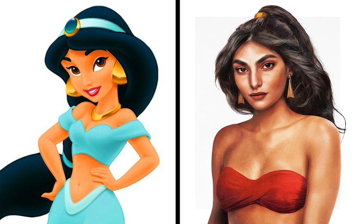Artist Re-Imagines Disney Characters as Real People and We Still Can't Get Over Them