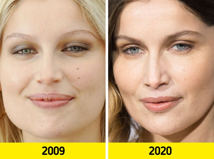 17 Pairs of Photos That Show How the Faces of Top Models Change With Time
