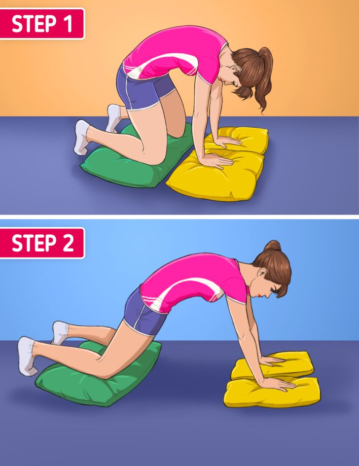 10 Exercises You Can Do Using Just a Pillow