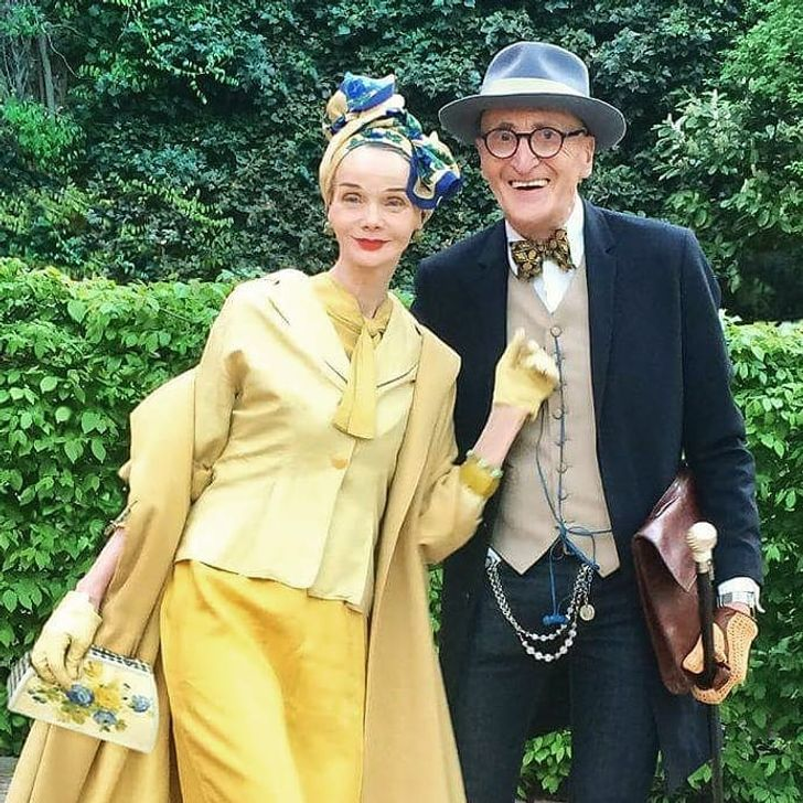An Elderly Couple From Germany Dresses So Stylishly, It's Like They Are Ready for the Queen's Reception