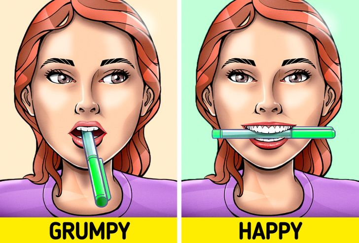 Why a Pencil in Your Mouth Can Make You Happier