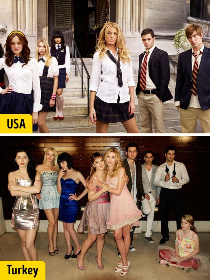 How 10 Cult TV Shows Look in Different Countries