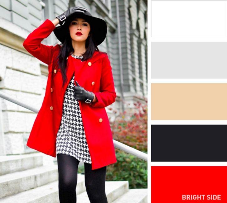 Outfit warna merah