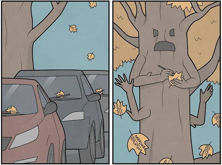 Russian Artist Draws Sarcastic Illustrations, the Ending of Which is Like Snow in the Summer