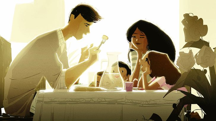 17heart-warming illustrations full ofboundless love for our nearest and dearest