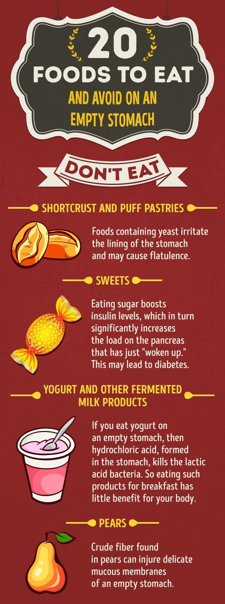 20Foods toEat and Avoid onanEmpty Stomach