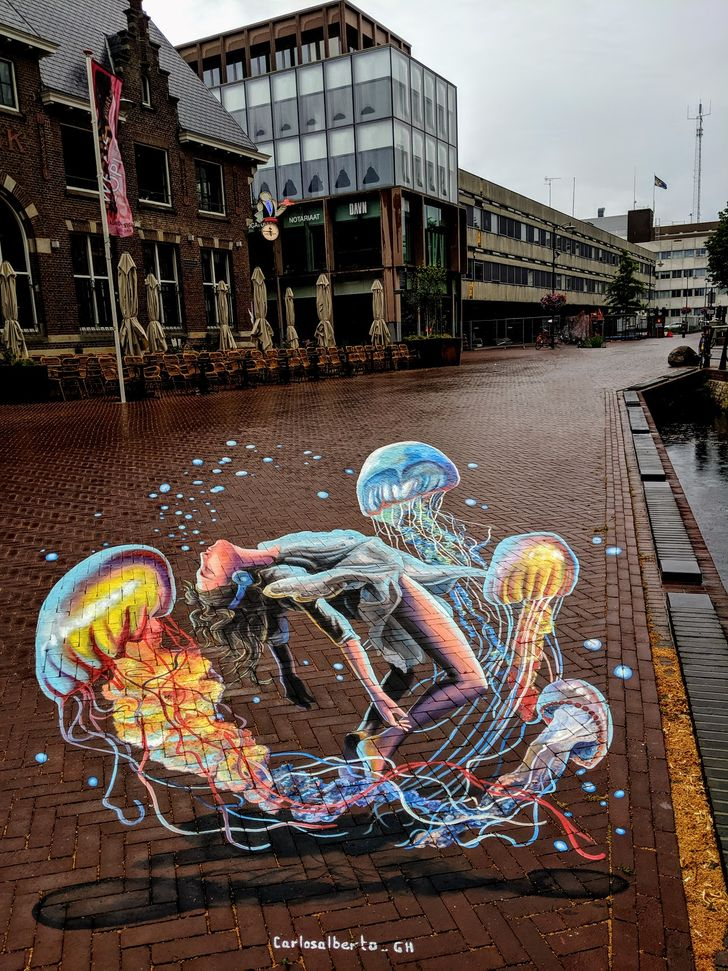 An Artist Lights Up Dull Streets With 3D Art That's So Magical, It'll Make You Question Reality