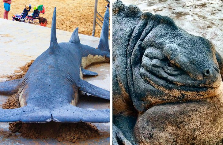 An Artist Creates Sand Sculptures That Look So Real, We Can't Believe Our Eyes