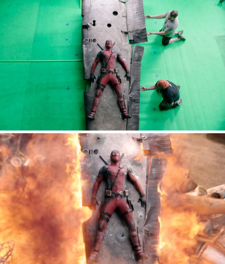 14 Photos Reveal How Famous Movies Look Before Special Effects