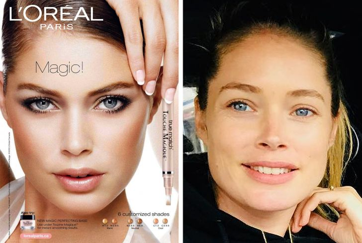 We've Found Women From Beauty Ads to See What They Look Like Without Makeup