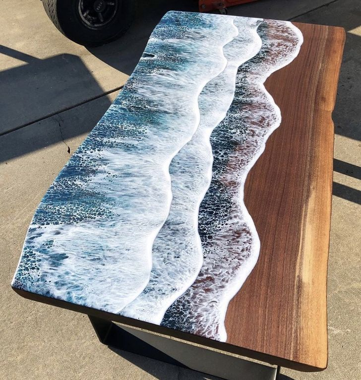 You Can Now Buy Resin Furniture That Looks Like Ocean Waves Crashing on the Beach