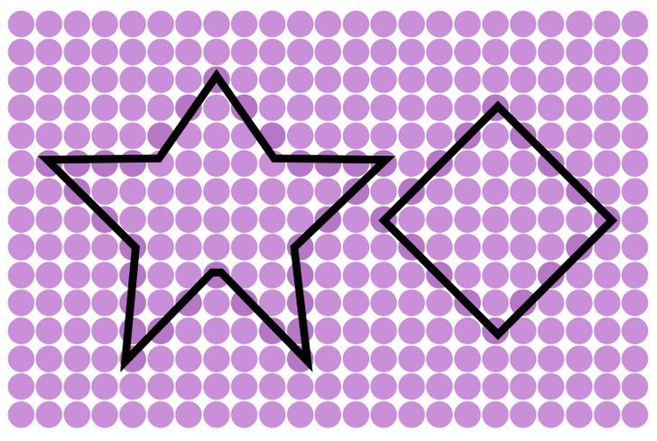 An irregular star and a rhombus. Solution 11 of 15.