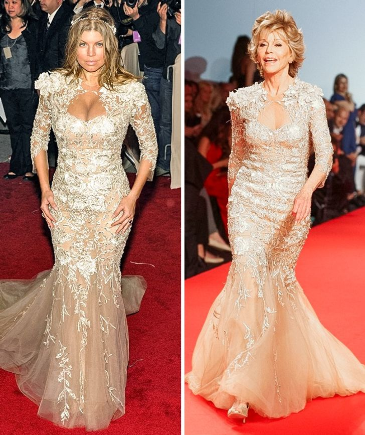 20Celebrities Who Appeared inIdentical Dresses