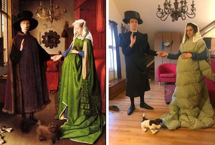 20+ People That Recreated Art Masterpieces and Had a Blast Online