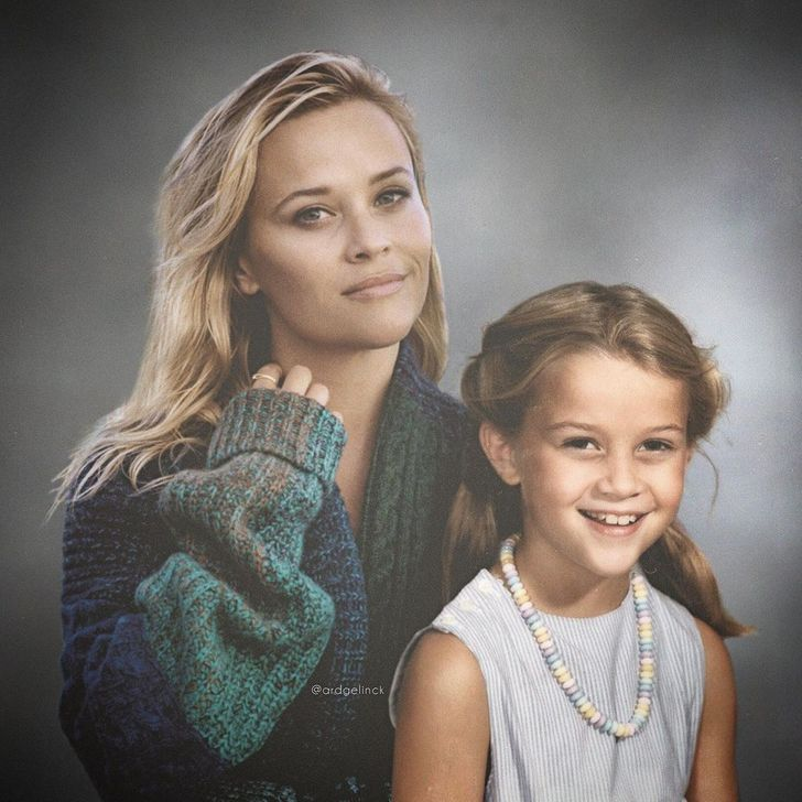 An Artist Makes Time Travel Possible by Photoshopping Celebrities Next to Their Younger Selves
