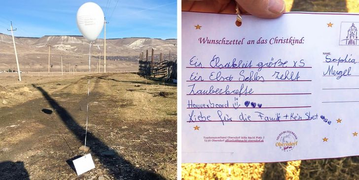 A Girl Tied a Written Wish to a Flying Balloon, and When a Man From Another Country Found It, He Made It Come True