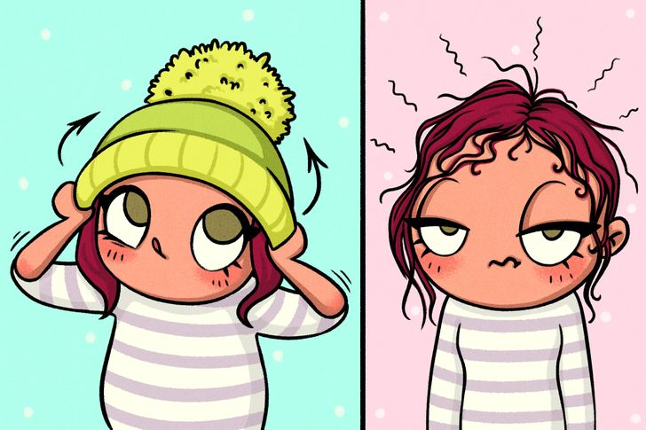 15Live Comics About How Difficult Girls' Life inWinter Is