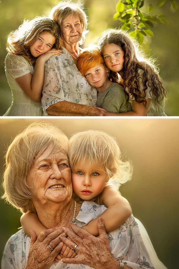 Take a Look at How This Photographer Proves There's No Place More Cozy Than Grandma's Lap