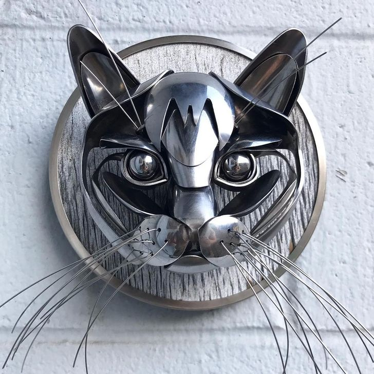 An Artist Makes Sculptures Out of Recycled Silverware That Are More Than Just Art