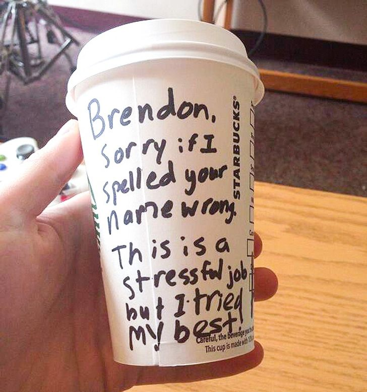 15 Times Starbucks Employees Hilariously Misspelled Names