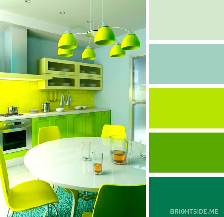 20 Perfect Color Combinations To Brighten Up Your Kitchen,How To Organize Bookshelf